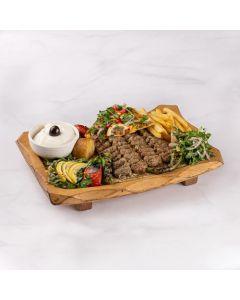 طبق كباب لحم