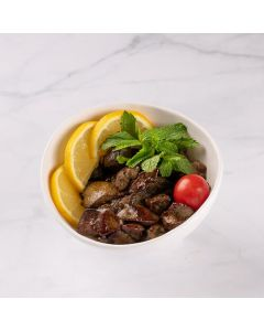 Chicken Liver Pomegranate Sauce / lemon&garlic / vegetables